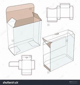 Perfume Cardboard Box With Blueprint Template Stock Vector