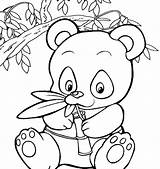 Panda Bear Coloring Pages Printable Getdrawings Getcolorings sketch template