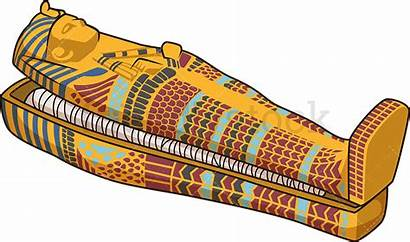 Sarcophagus Cartoon Egyptian Egypt Open Coffin Clipart