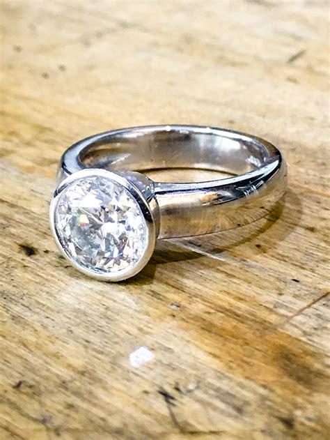 engagement rings diamond platinum large rub over max diamonds bespoke jeweler london