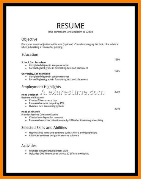 6 student resumes for biology resume