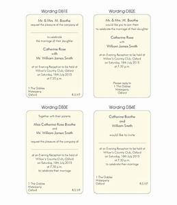Evening invitation wording examples for Examples of wedding invitation wording uk