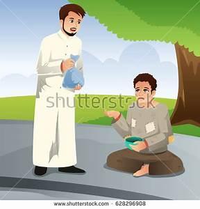 Vector Illustration Muslim Man Giving Donation Stock ...