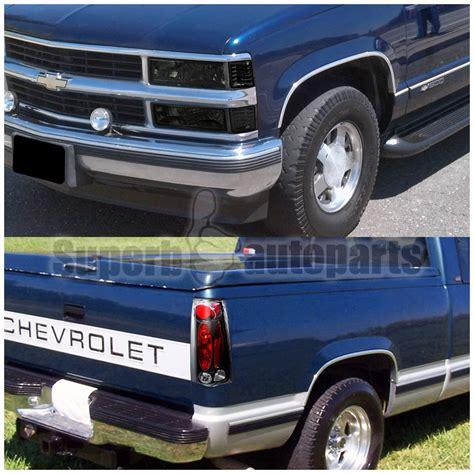 1996 chevy silverado tail lights 1994 1998 chevy c k silverado smoke headlights bumper