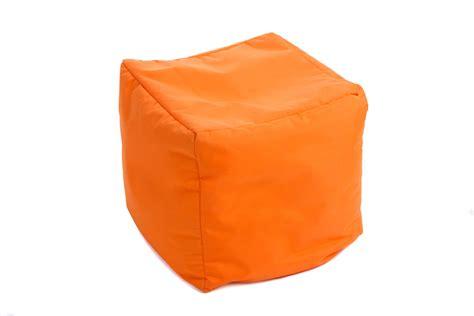 Pouf Orange Pour Bureau D'entreprise Kolloricom