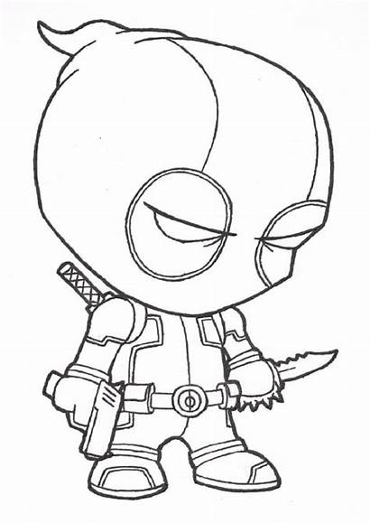 Deadpool Drawing Coloring Pages Getdrawings