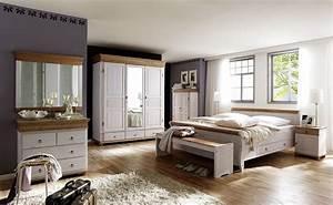 Massivholz Schlafzimmer Set Komplett Kiefer Massiv Wei Antik