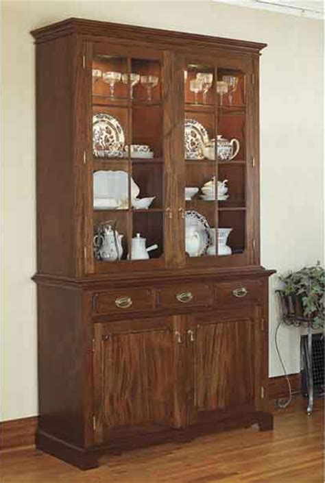 buffet hutch plans heirloom china cabinet woodworking plan from wood magazine