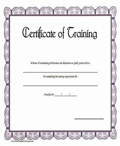 18 free training certificates sample templates for Blank training certificate
