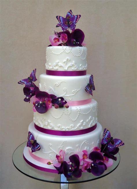 purple theme wedding cake  veritys creative cakes