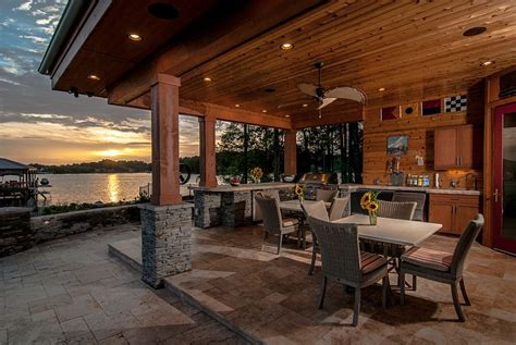 luxurious lakeside cabana relaxing retreat  scenic