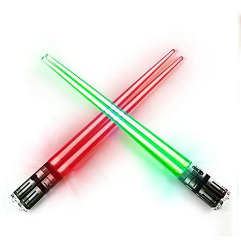 Light Saber Chopsticks by Chop Sabers Light Up Lightsaber Chopsticks Set 2 Pairs