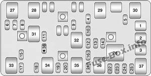 Trunk Fuse Box Diagram  Chevrolet Malibu  2008  2009  2010  2011  2012