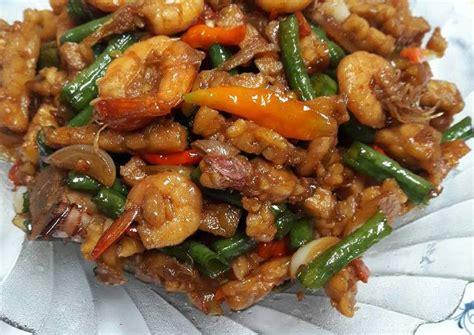 Resep tumis udang kacang panjang pedas manis. Resep Oseng pedas Udang Tempe oleh Yulia Yusuf - Cookpad