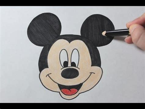 draw mickey mouse easy drawing tutorial girl