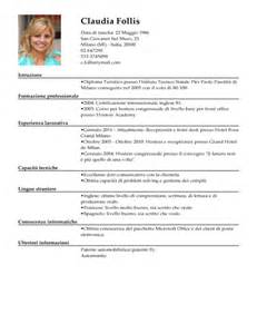 modello curriculum vitae receptionist esempio cv addetto