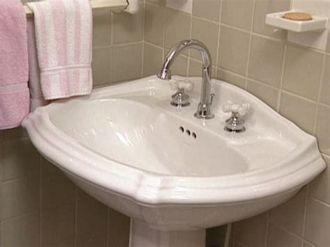How To Replace A Bathroom Faucet  Home, Pedestal And We