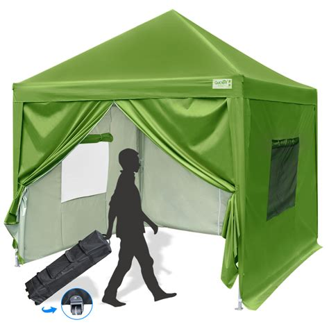 quictent privacy  pop  canopy tent instant folding outdoor canopy  sidewalls mesh