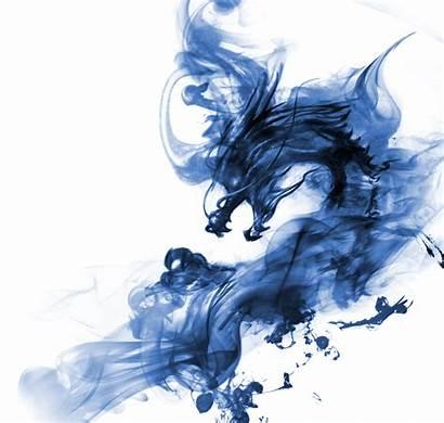 Dragon Smoke Fire Transparent Fantasy Entire Ink