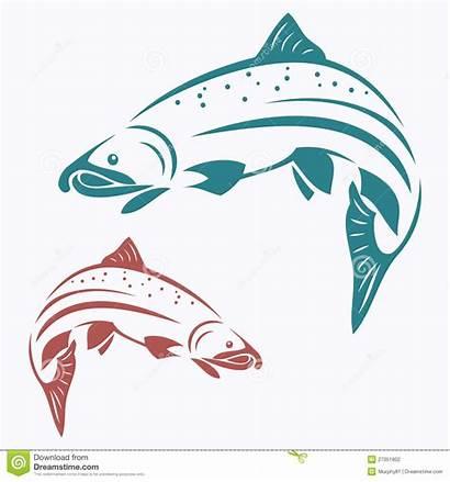 Salmon Fish Clipart Clip Vector Illustration Sockey
