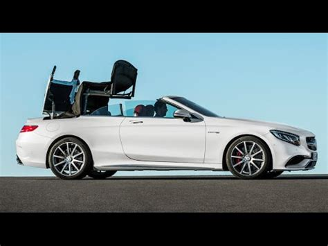 Open Car by Mercedes S Class Cabriolet Roof Demo 35 Mph Open