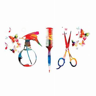 Tools Hair Clip Vector Scissors Hairdressing Background