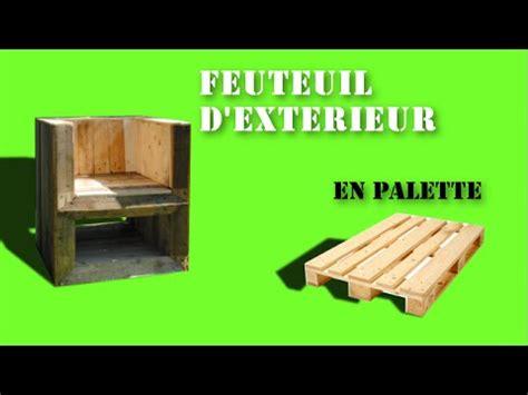 chaise en palette fauteuil d 39 extérieur en bois de palette