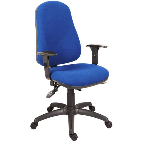 blue desk chair ergo comfort chair with arms blue staples 174
