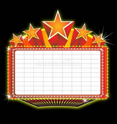 Marquee Theater Sign Clipart Border Blank Broadway