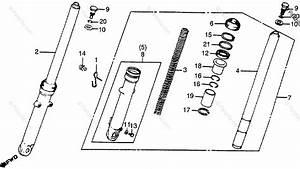Honda Motorcycle 1979 Oem Parts Diagram For Front Shock