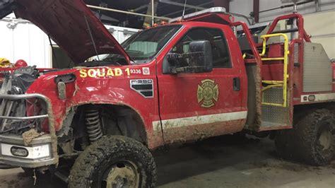 volunteer fire department finds stolen trucks wrecked