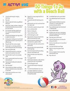 PDF Printable 50 Things to Do with a Beach Ball Physical ...