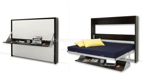 lit escamotable bureau lit escamotable 140x200 cm avec bureau rabattable
