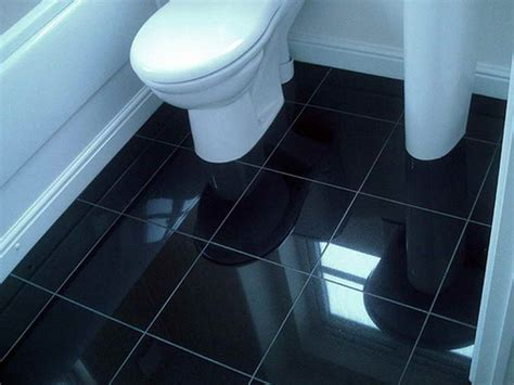Bathroom  Bathroom Black Tile Flooring Ideas Bathroom