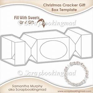 gift box card template cu ok gbp350 commercial use scraps With christmas cracker template printable