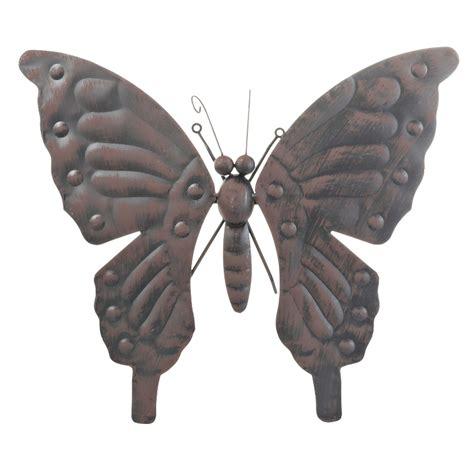gamma muurdecoratie wanddecoratie vlinder middel metaal zwart tuindecoratie