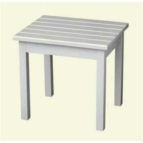 white patio side table 50etw rta the home depot