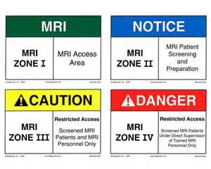 Fail Safe Lighting by Mri Zone Signs Reflective Magmedix Inc