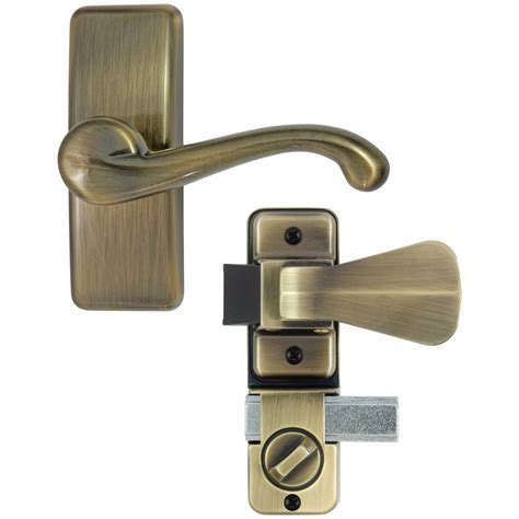 screen door handle gl lever set with deadbolt ideal security inc