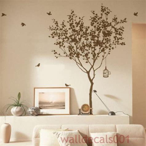 Wall Mural Decals Tree by Vinyl Wall Sticker Wall Decal Tree With Bird