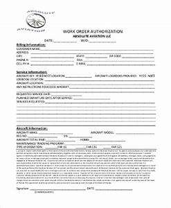 sample work authorization form 9 free documents in word With documents that establish employment authorization
