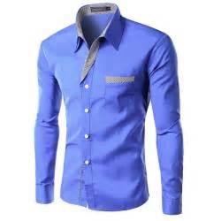 2016 new dress fashion quality long sleeve shirt men