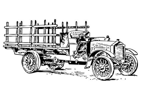 Oude Kleurplaat by Kleurplaat Oude Vrachtwagen Afb 10474 Images
