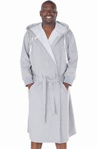 New mens sweatshirt style hooded bathrobe ebay for Robe sweat shirt