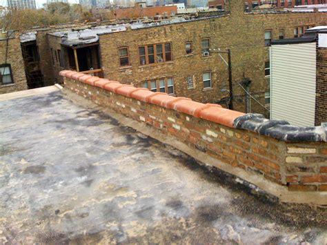 concrete wall repair masonry project parapet wall