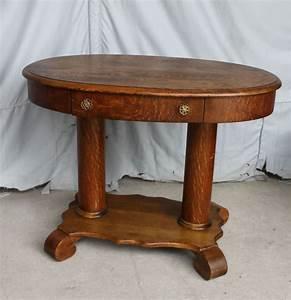 Bargain, John, U0026, 39, S, Antiques, U00bb, Blog, Archive, Antique, Oak, Oval, Library, Table