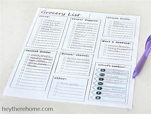 printable meal planning templates to simplify your life With meal planning template with grocery list