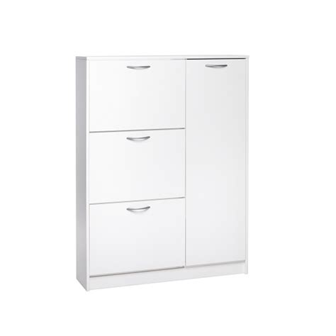 white wooden shoe storage cabinet swift wooden shoe cabinet in white with 3 flaps and 1 door