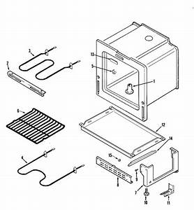 Oven  Base Diagram  U0026 Parts List For Model Cer1140aaw Magic