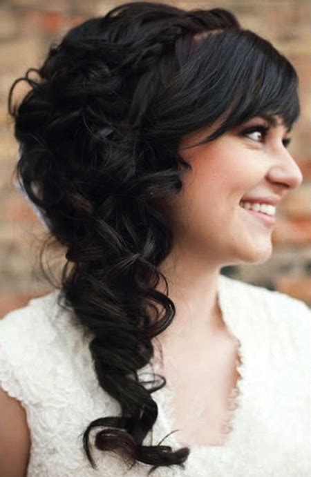 fringe wedding hairstyles elle hairstyles